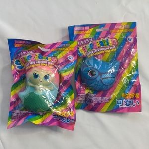 Squeezables 2 pack mermaid cat